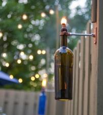 wijnfleslamp