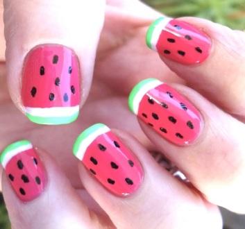 Watermelonnailart1