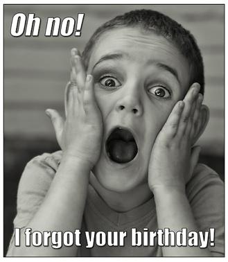 verjaardagvergeten